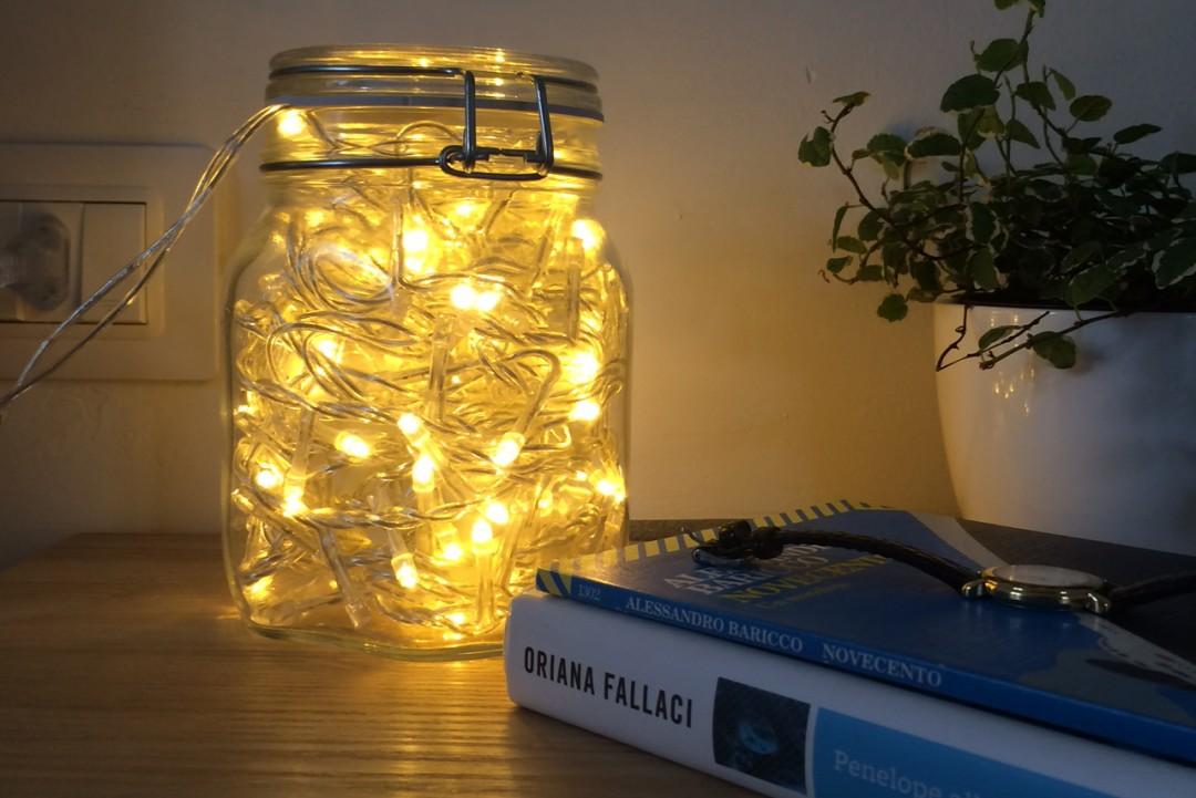 Lampada Con Barattolo Di Vetro : Un barattolo di luci per natale vi spiego come si fa c era una